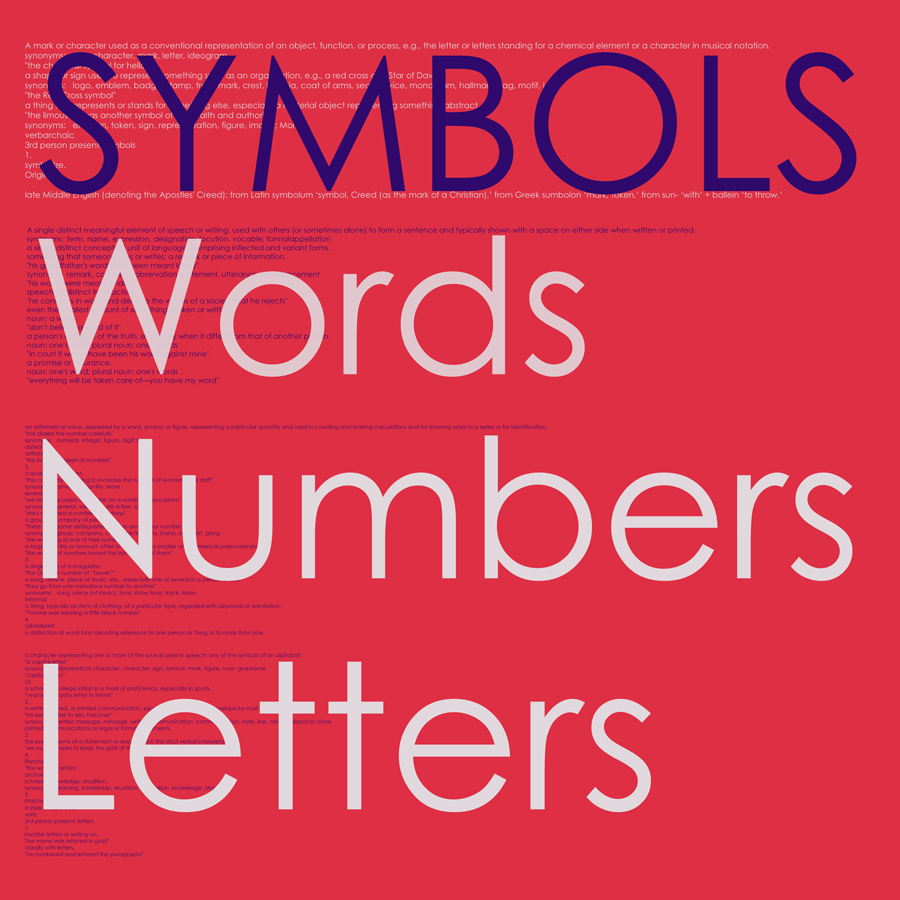 Artist Reception for Symbols, Words, Letters & Numbers | April 6